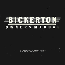 Bickerton Owner's Manual - Black